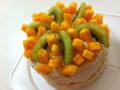 フルーツたっぷり豆腐クリームのスポンジケーキ♪♪