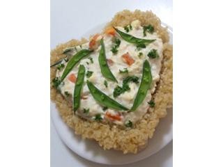 豆腐クリームの玄米キッシュ