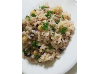 ひよこ豆とゆかりのご飯