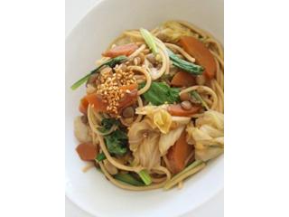 レンズ豆と春野菜のスパゲティー