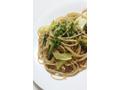 葱と小松菜のペペロンチーノスパゲティー♪