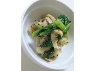 切干大根と小松菜のマスタード和え